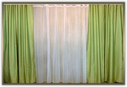 Комплект штор «Тафта зелений колір»