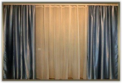 Комплект штор «Сілеста синій колір.»