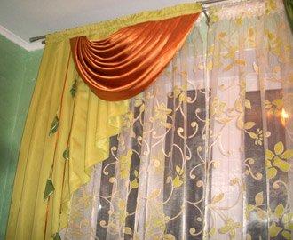 Пошив штор на кухню