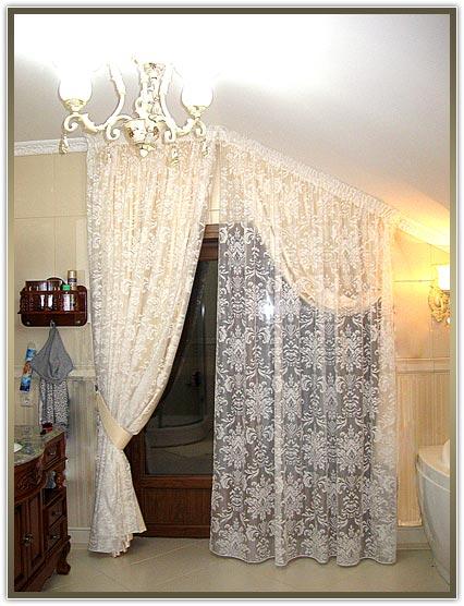 пошив штор для нестандартных окон в Киеве