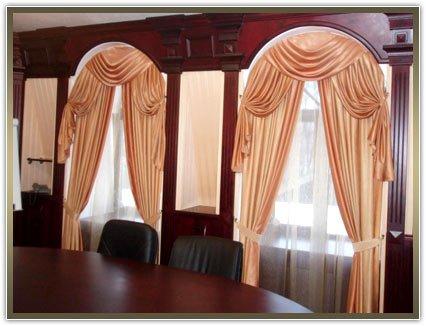 шторы для нестандартных окон в кабинет