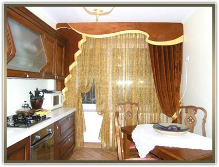 шторы на кухню от компании ВП Гелиос