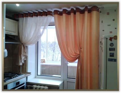 пошив штор и гардин на кухню