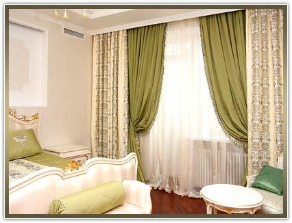 Заказать пошив штор в спальню в Киеве